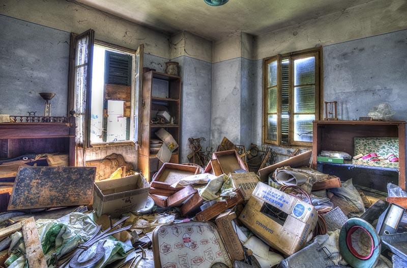 Verlassenes Einfamilienhaus