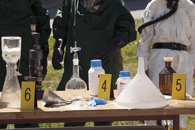 illegal meth lab